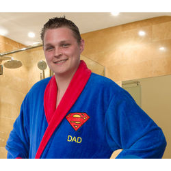 Personalized Superman Bathrobe