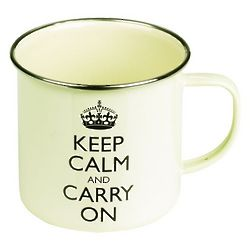 Keep Calm and Carry On Enamel Mug