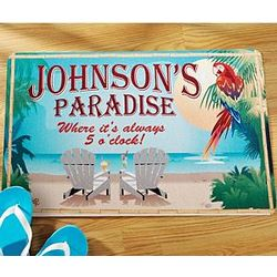 Personalized Paradise Doormat