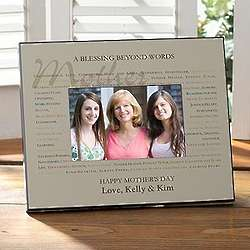 Mother's Blessing Beyond Words Personalized Picture Frame