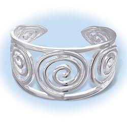 Celtic Spiral Cuff Bracelet