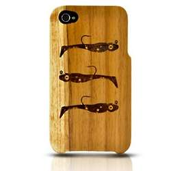 Eco-Design iPhone Fish Bait Teak Wood Case