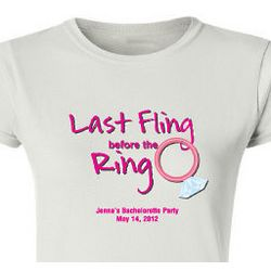 Personalized Last Fling Ladies T-Shirt