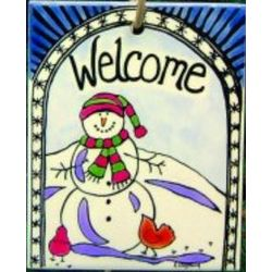 Snowman Welcome Tile