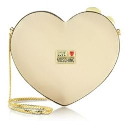 Satin Heart Twistlock Clutch