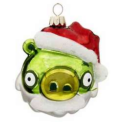Angry Birds Green Pig Christmas Ornament