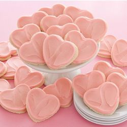 Frosted Heart Cutout Cookies