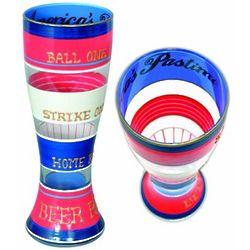 Baseball Handpainted Pilsner Glass