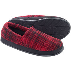Parkwood Moc Red & Black Plaid Slippers