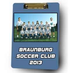 Personalized Soccer Coach Photo Clipboard