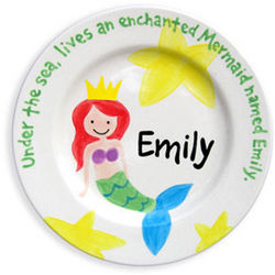 My Little Mermaid Personalized Plate