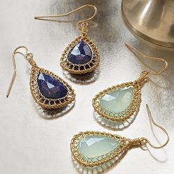 Gold Fill Faceted Drop Earrings