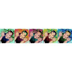 Custom Photo 5 Panel Pop Art Print