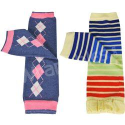 Argyle & Rainbow Colorful Baby Leg Warmers