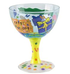 Hand-Painted Happy Birthday Ice Cream Sundae Bowl