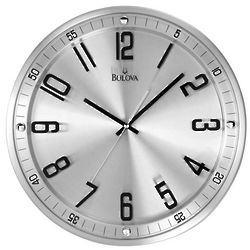 Silhouette Brushed Steel Wall Clock