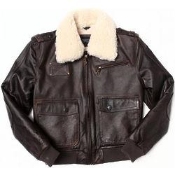 Boys Leather Aviator Jacket