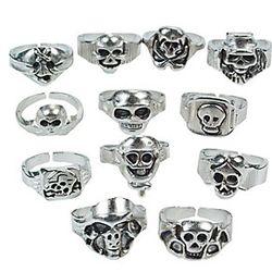 12 Skull Rings