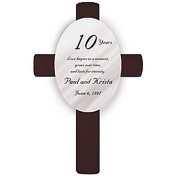 Personalized Love Anniversary Cross