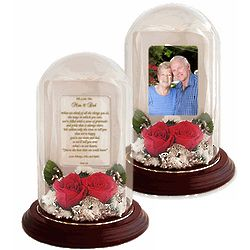Mom & Dad Personalized Poetry Rose Dome