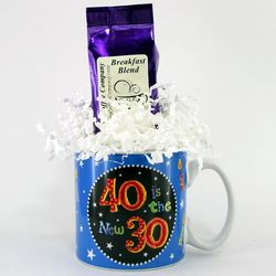 40 Is the New 30 Coffee Mug Gift Package