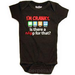 Baby's I'm Cranky App Snapsuit