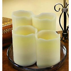 Vanilla Scented Flameless LED Pillar Candles