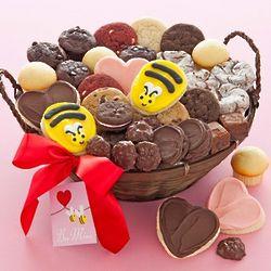 Bee Mine Cookies and Treats Basket
