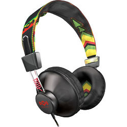 Positive Vibration Headphones in Rasta Green