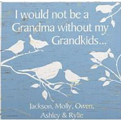 Personalized Nurturing Birds Canvas for Grandma with 7 Kids