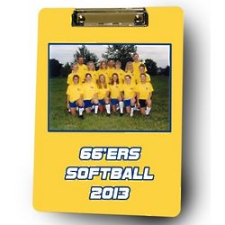 Personalized Softball Coach Photo Clipboard