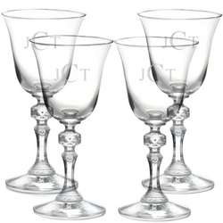 Bell Wine Glasses with Monogram
