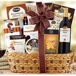 Crossridge Peak Bon Appetit Merlot Gift Basket