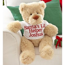 Personalized Happy Holidays Bear