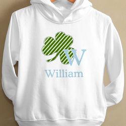 Shamrock Initial Boy's Toddler Hooded Sweatshirt