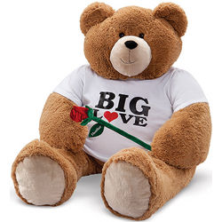 4' Big Hunka Love Big Love T-Shirt Teddy Bear with Rose