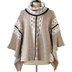 Cowlneck Poncho Sweater