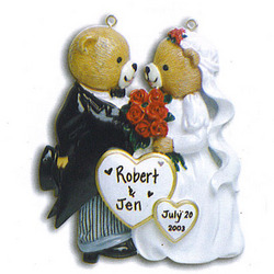 Bride and Groom Christmas Ornament
