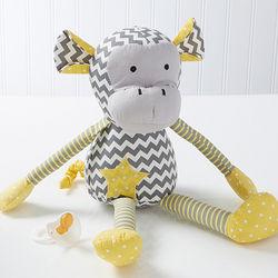 Patchwork Plush Monkey Toy