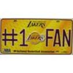Lakers No.1 Fan License Plate