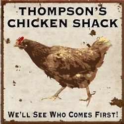 Personalized Vintage Chicken Shack Sign