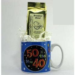 50 Is the New 40 Coffee Mug Gift Package
