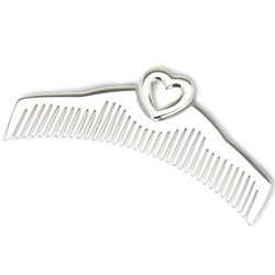 Heart Sterling Silver Baby Comb
