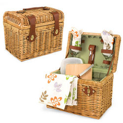 Napa Botanica Wine and Cheese Picnic Basket for 2