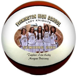 Personalized Mini Basketball with Color Image and Text
