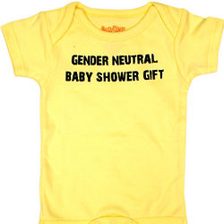 Gender Neutral Baby Shower Snapsuit