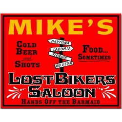 Lost Bikers Saloon Custom Sign