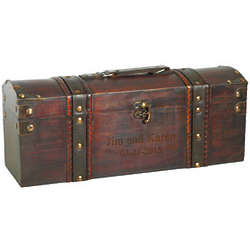 Treasure Chest Wood Wine Box