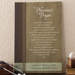 Physician's Prayer Personalized Canvas Artwork