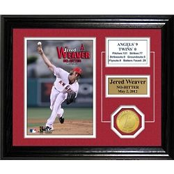 Jered Weaver No Hitter Game Framed Desktop Photo Mint